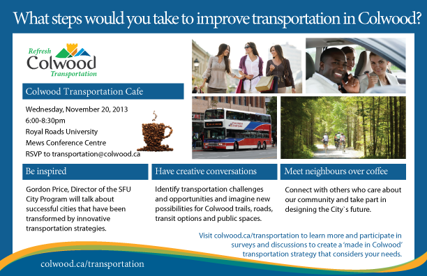 Colwood Transportation Cafe   The City of Colwood