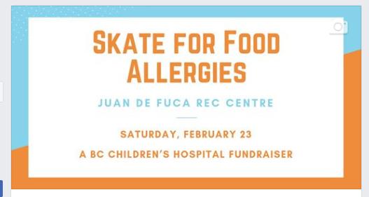 Skate for Food Allergies at Juan de Fuca Recreation | The