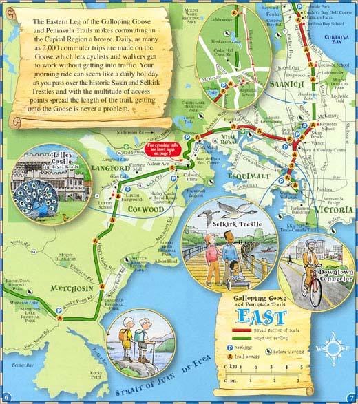 Columbia Trail Map Map British Columbia Back