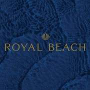 royal beach shell logo in a blue square