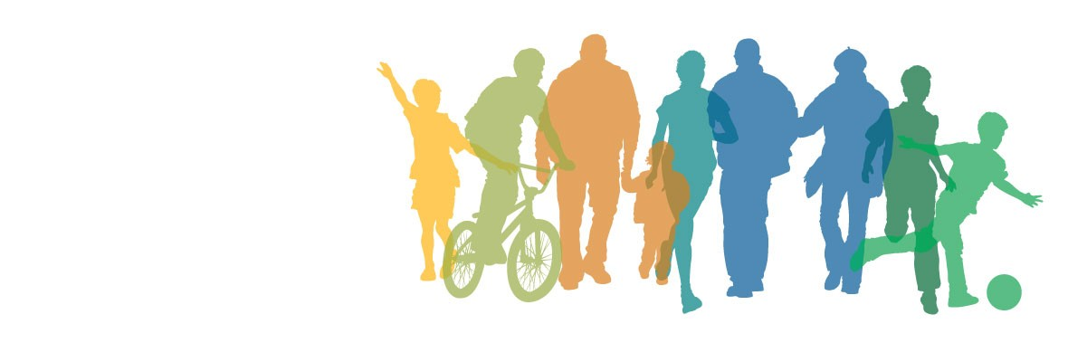 active people silhouettes