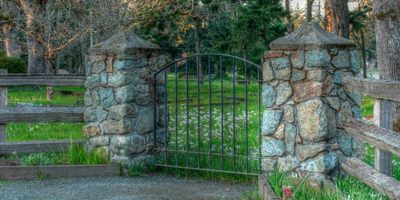 Pioneer Cemetery gate