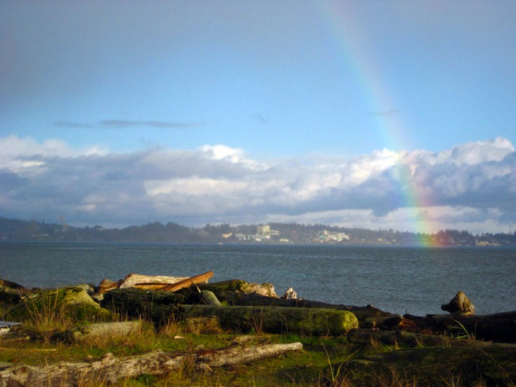 Rainbow over the Colwood Waterfront