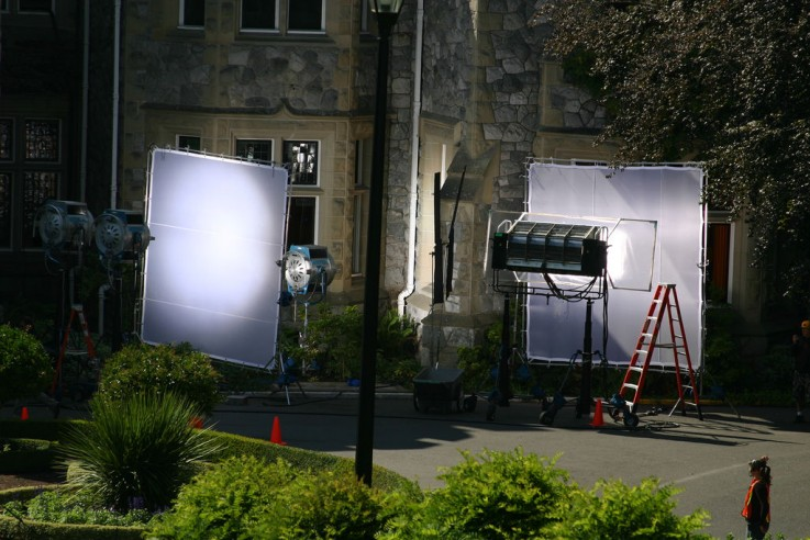 Night Filming X-Men at Hatley Castle in Colwood