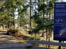 royal bay north ridge trail sign