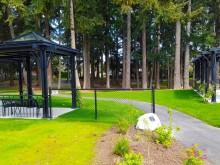 herm williams park pergolas green grass
