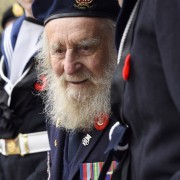 elderly veteran on remembrance day in Colwood